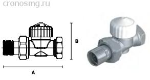 Вентиль термостатический прямой ELSEN с преднастройкой 1/2''В — 1/2''H