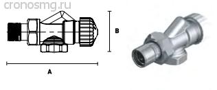 Вентиль термостатический осевой ELSEN с преднастройкой 1/2''В — 1/2''H