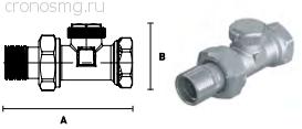 Вентиль отсекающий прямой ELSEN 1/2''В — 1/2''H