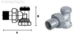 Вентиль отсекающий угловой ELSEN 1/2''В — 1/2''H