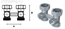 Вентиль н-образный прямой ELSEN 3/4''ЕК НГ — 3/4''ЕК Н