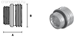 Ниппель переходной с уплотнением ELSEN 1/2'' O-ring — 3/4'' ЕК H