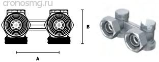 Вентиль переходной с уплотнением ELSEN 1/2'' O-ring — 3/4'' ЕК H