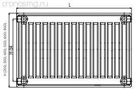 Комплект поставки радиаторов с боковым подключением