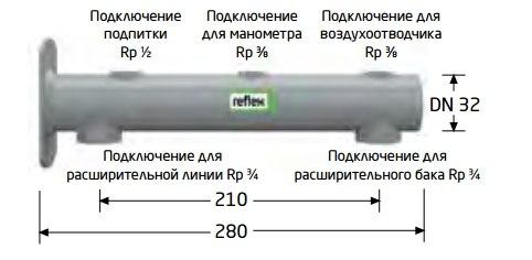 Reflex. Консоль с патрубками для различных подключений
