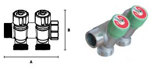 Коллектор модульный ELSEN с регулировочными вентилями, выход 3/4'' EK