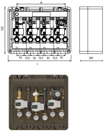 Распределительный коллектор с интегрированным гидравлическим разделителем ELSEN
