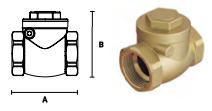 Клапан обратный латунный горизонтальный ELSEN