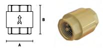 Клапан обратный латунный ELSEN с металлическим затвором
