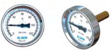 Биметаллический термометр ELSEN осевой