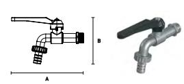 Кран ELSEN шаровой латунный сливной угловой со штуцером