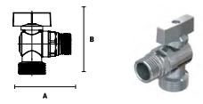 Кран ELSEN шаровой латунный угловой для стиральных машин