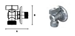 Кран ELSEN шаровой латунный угловой для стиральных машин с розеткой
