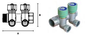 Коллектор модульный ELSEN с регулировочными вентилями, выход 1/2'' НР ПУ